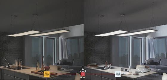 Megfelelő fény egy kattintással: EGLO Relax & Work