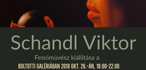 Schandl Viktor festőművész kiállítása a BoltOttiban