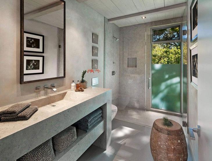Inspiráló enteriőr semleges, időtálló beton terekkel