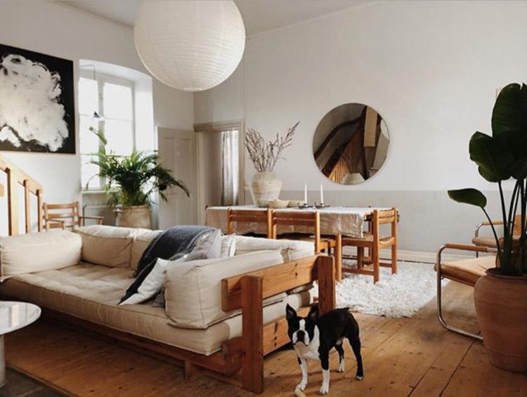Csodálatos svéd ház a vintage és a fa jegyében