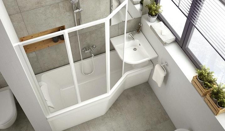 Kis fürdőszobák nagy lehetősége